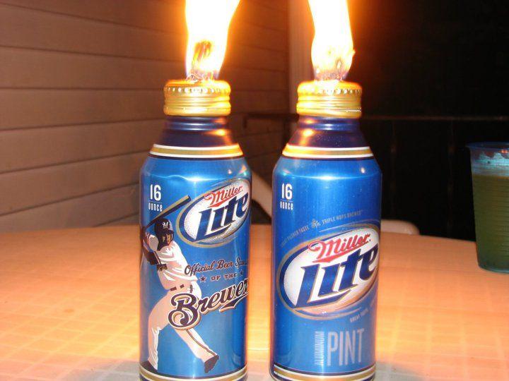 Homemade Tikki Torches 1 Drink Beer From Miller Aluminum