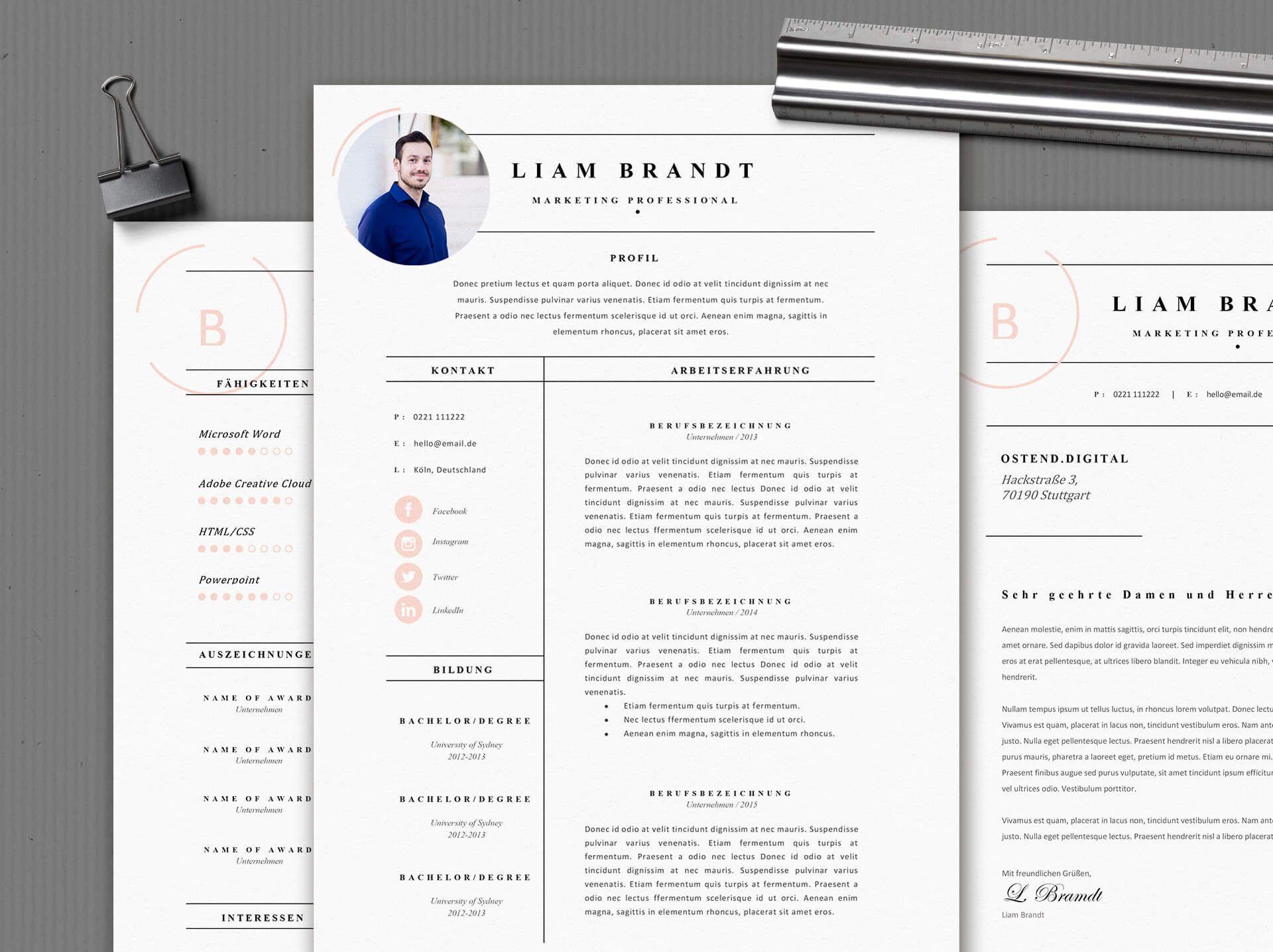 Bewerbungsvorlage - Mr. Brandt #bewerben #karriere #kreativ ...