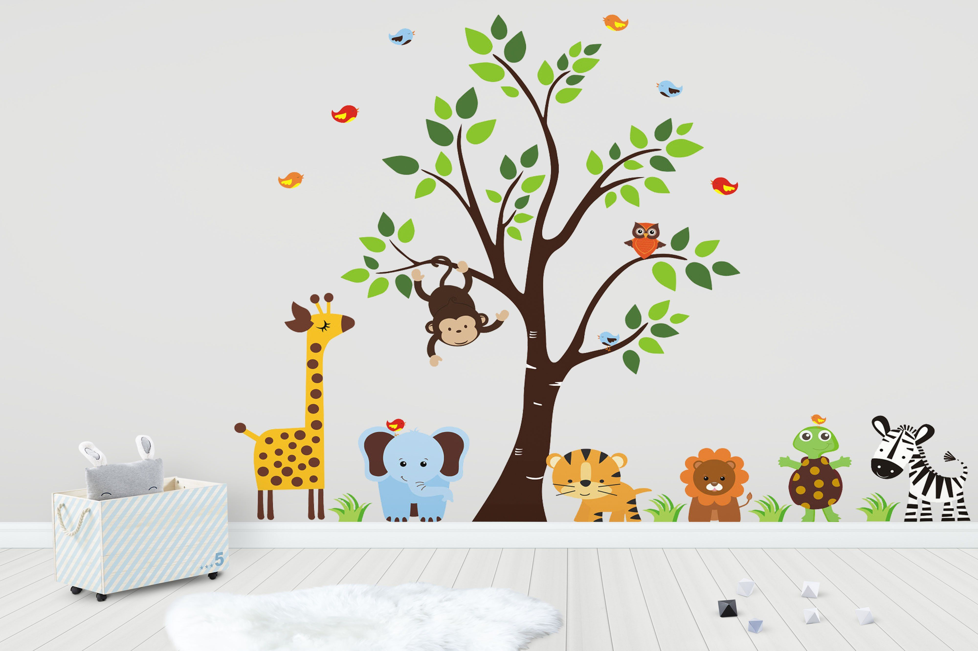 Animal Wall Art Nursery Wall Decals Baby Wall Stickers