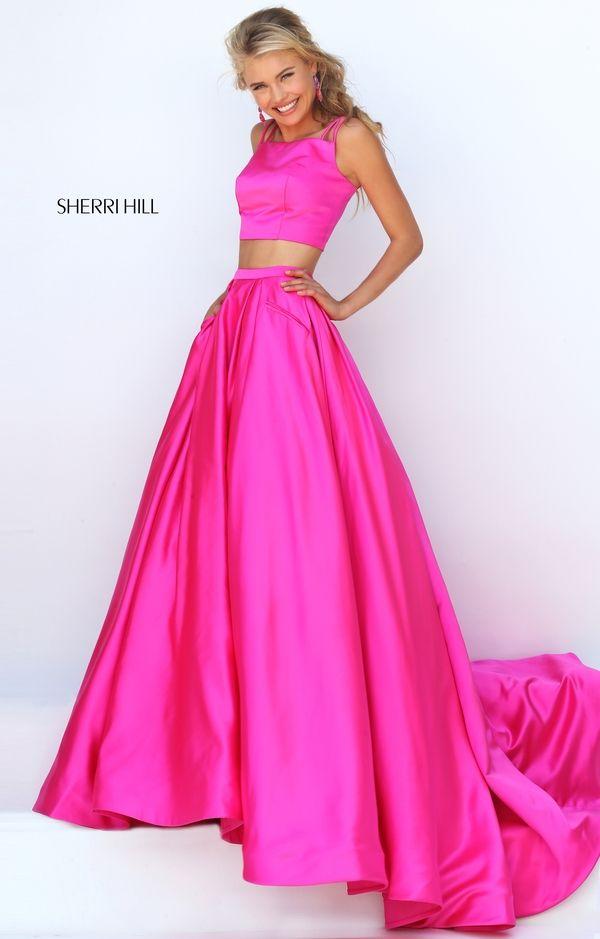 Sherri hill hot pink halter skirt and top | FabriX | Pinterest | Hot ...