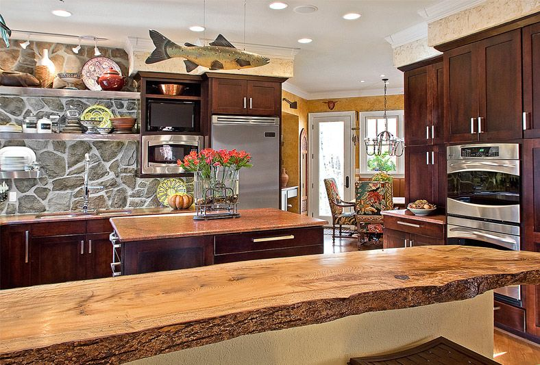Kitchen Design Gallery Marsh Kitchens Eat In Kitchen Grey Natural Stone  Backsplash   Stone Slab Kitchen