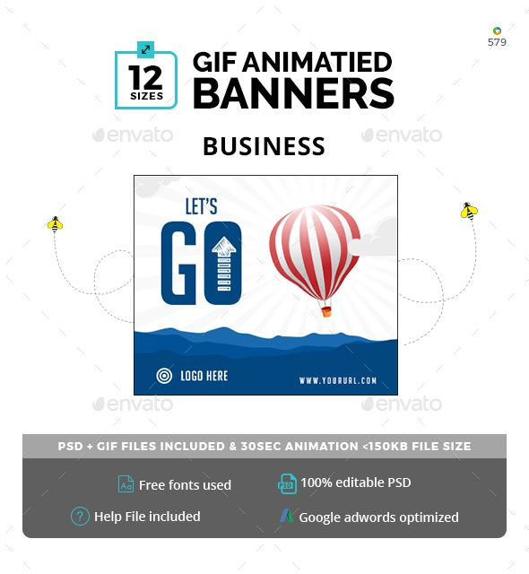 Business Animated GIF Banners Banner template, Banners and Business - business coupon template
