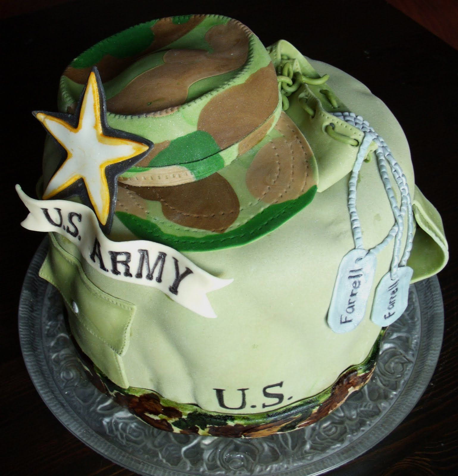 Glitter and camo (With images) Bag cake, Army cake