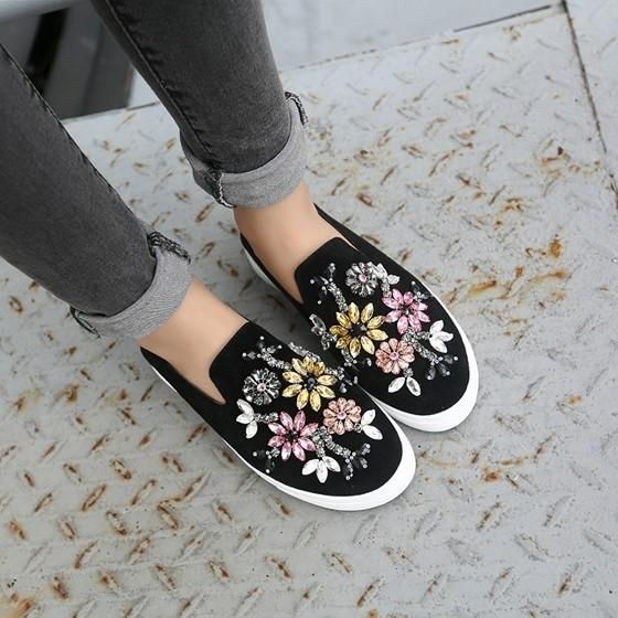 Black Round Toe Flat Beads Casual Shoes is part of Spring shoes women - Buy Black Round Toe Flat Beads Casual Shoes online with cheap prices and discover fashion Flats,Flats,Women Flats,Cheap Flats,Fashion Flats,Popular Flats,Flats for women at Loverchic com