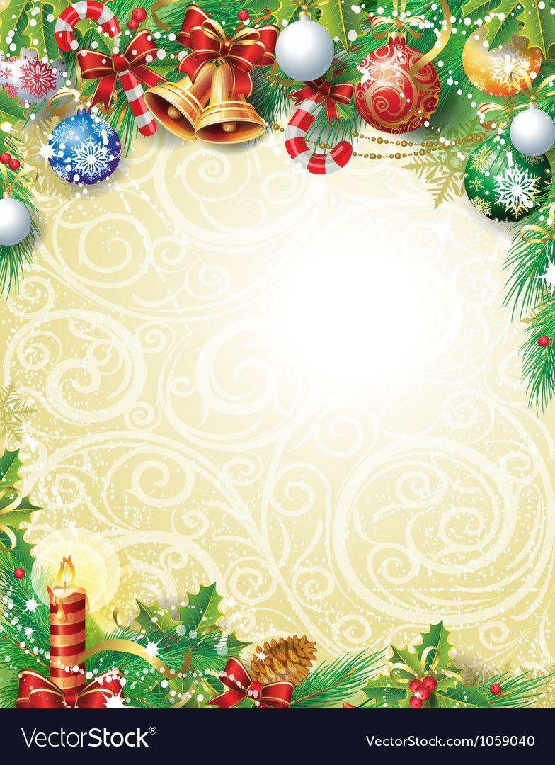 Vintage Christmas background vector image on Christmas