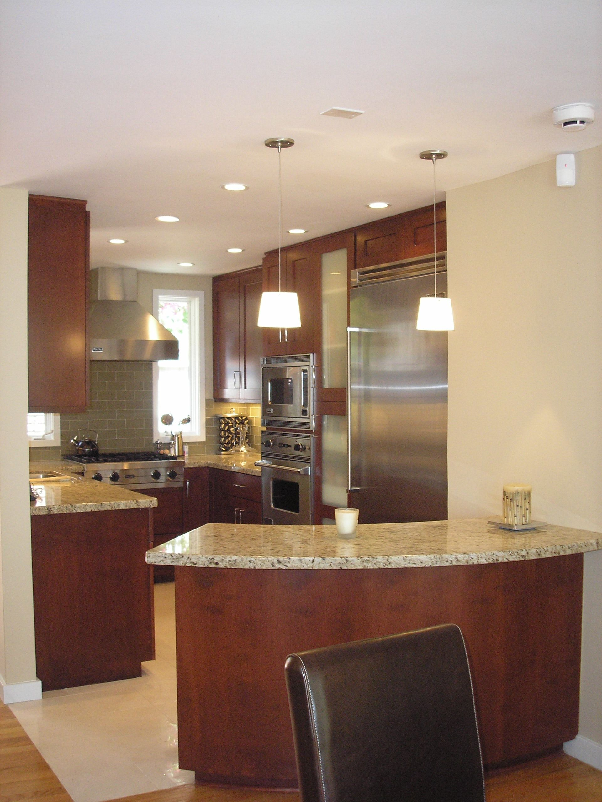 Small Custom Kitchen With Curved Peninsula New Ideas Kitchens