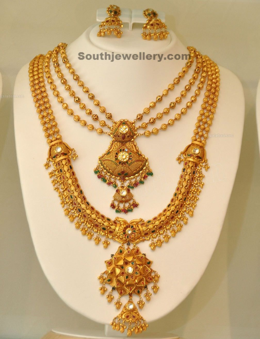 Gold necklace designs in grt jewellers - Gold