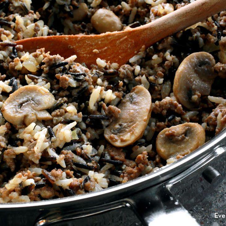 Hamburger Wild Rice Casserole Wild Rice Recipes Wild Rice Casserole Rice Casserole Recipes