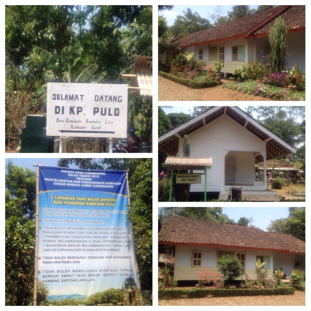 Kampung Pulo Cangkuang Temple Village Garut West Java Dengan