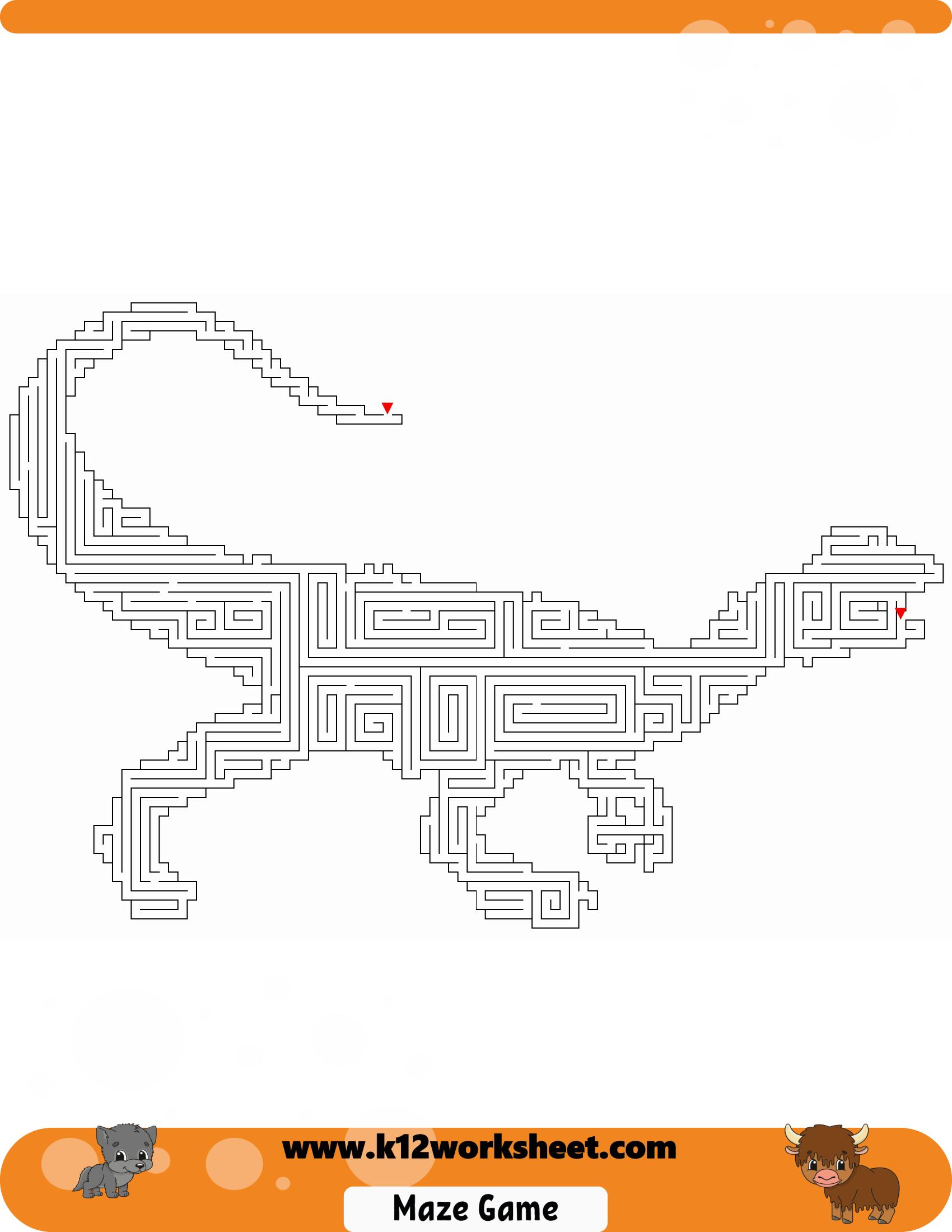 Dinosaur Maze For Kids