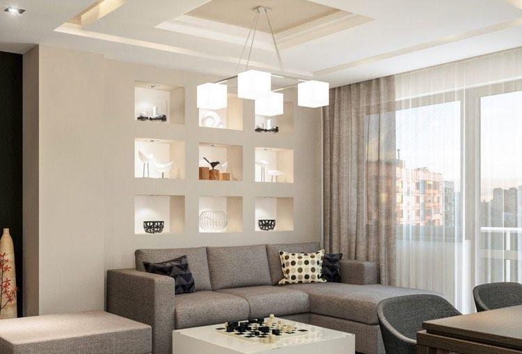 beleuchtete wandnischen mit kunstobjekten im wohnzimmer wohnen pinterest wandnischen. Black Bedroom Furniture Sets. Home Design Ideas