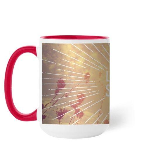 Whimsy Live In The Sunshine Mug, Red, 15 oz, White