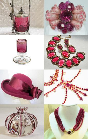 Holiday Cranberries Vogueteam by Gena Lightle on Etsy-- #voguet #cranberry Pinned with TreasuryPin.com