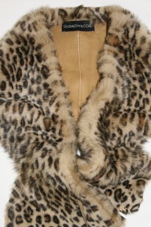 Ethical printed sheepskin collar by British designers Gushlow and Cole