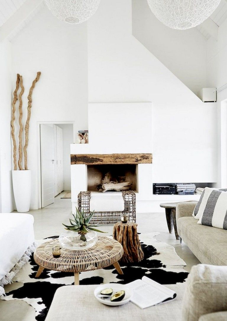 64 Smart Scandinavian Fireplace Ideas Makeover For Your Living