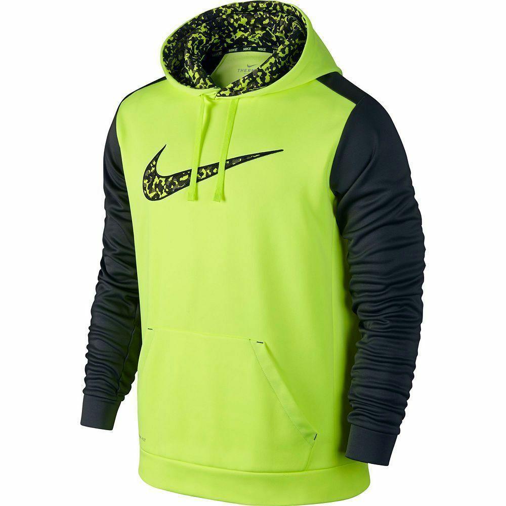 NWT NIKE Men/'s KO Wetland Swoosh Therma Fit HOODIE Pullover Training Choose