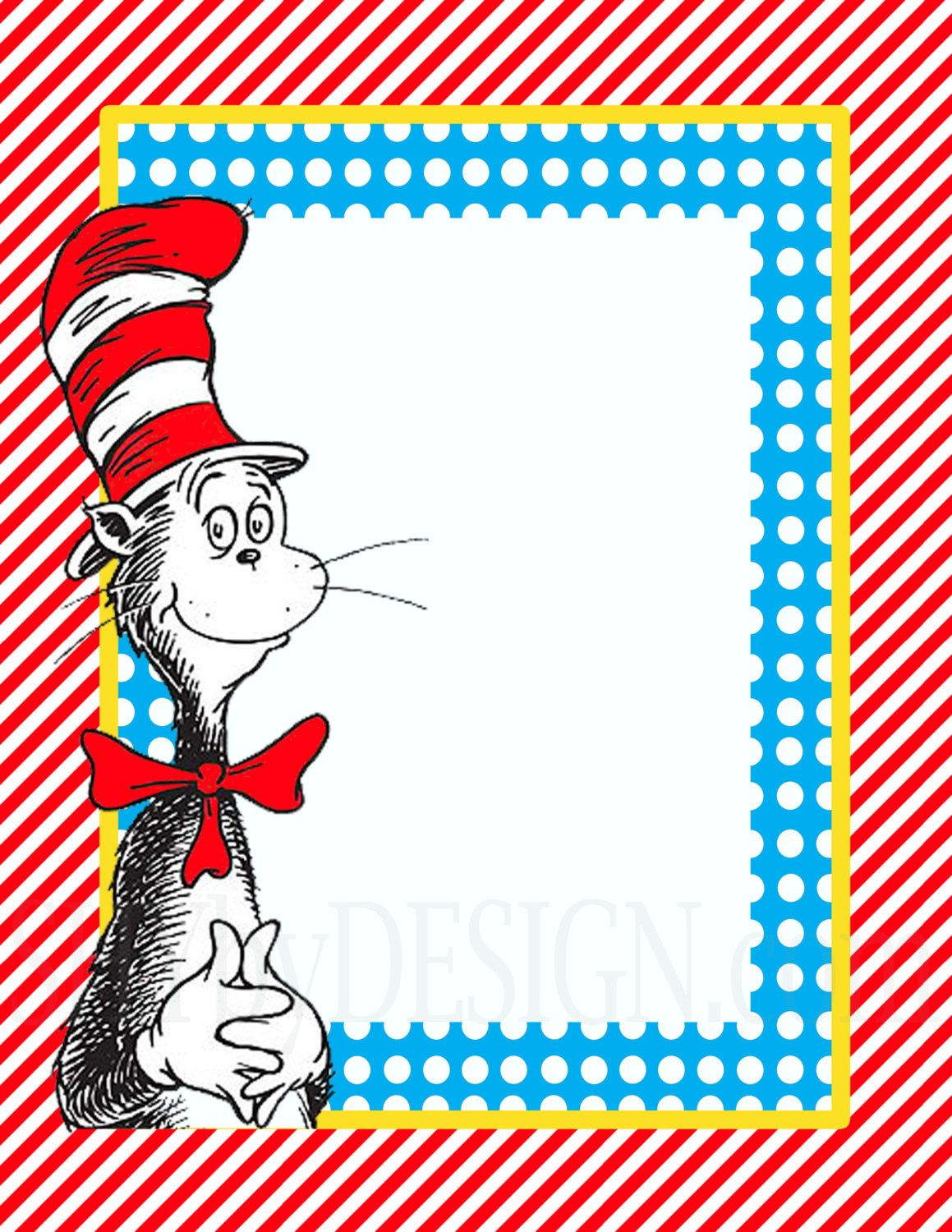 dr seuss birthday card template - dr seuss border templates like this item its so
