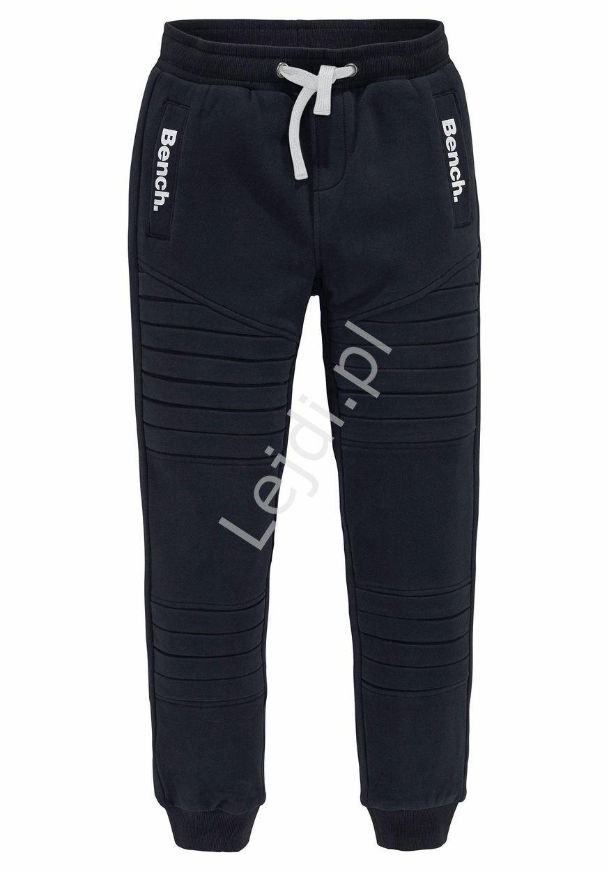 Czarne Spodnie Dresowe Bench Sweatpants Fashion Pants