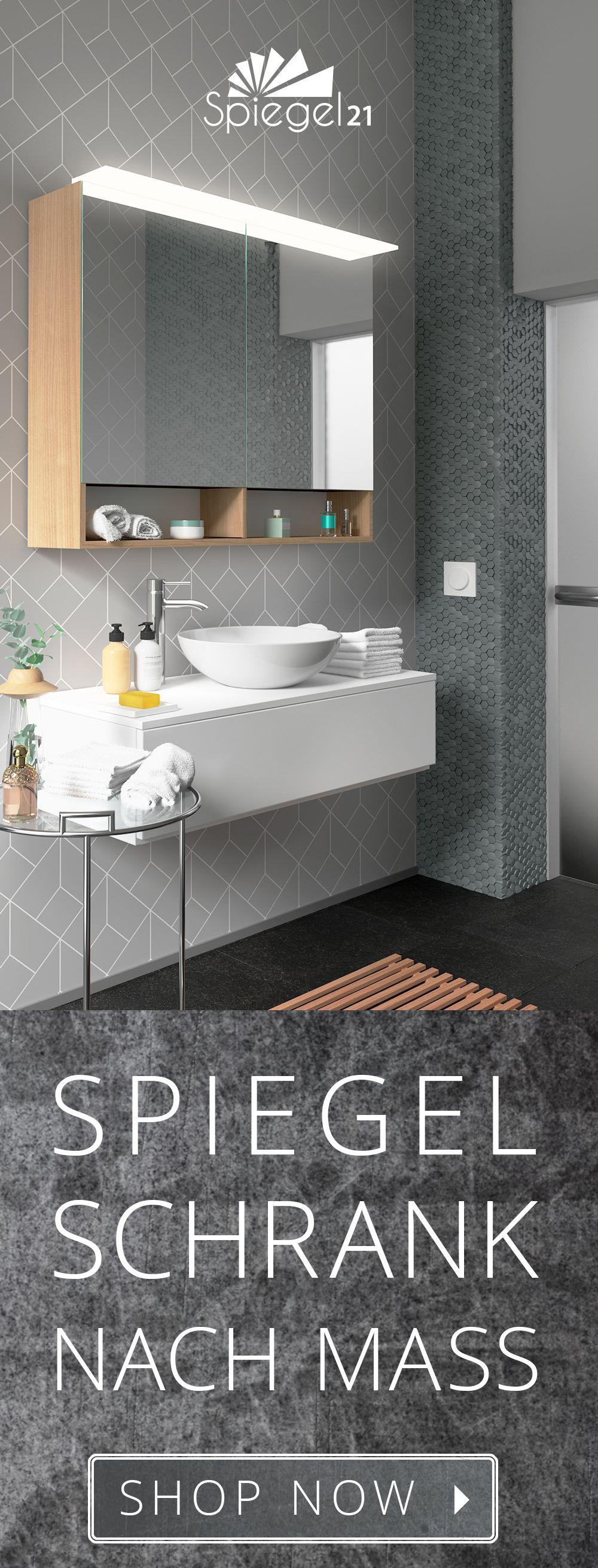 Passgenaue, individuelle Bad Spiegelschränke nach Maß sind