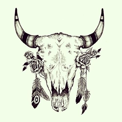 cow skull tumblr hair color pinterest indianer. Black Bedroom Furniture Sets. Home Design Ideas