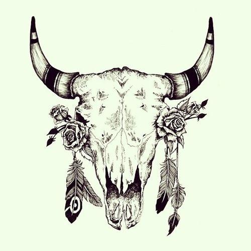cow skull tumblr boho tattoo pinterest indianer pferde tattoo sternzeichen und tattoo. Black Bedroom Furniture Sets. Home Design Ideas