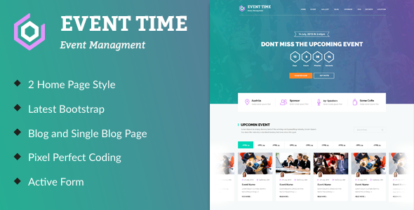Event time conference event html template pinterest template it is a highly suitable template for companies that plan meetings as well as event management websites maxwellsz