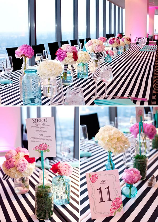 Real Wedding Celebrate Pinterest Wedding Striped Wedding And