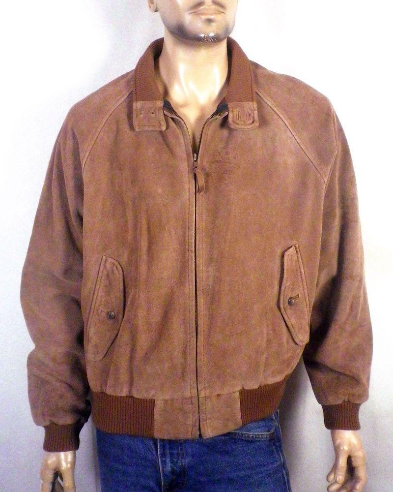 Vtg Polo Ralph Lauren 92 93 Brown Suede Leather G9 Harrington Jacket Bomber Xl Men S Coats And Jackets Vintage Clothing Men Harrington Jacket [ 1000 x 800 Pixel ]