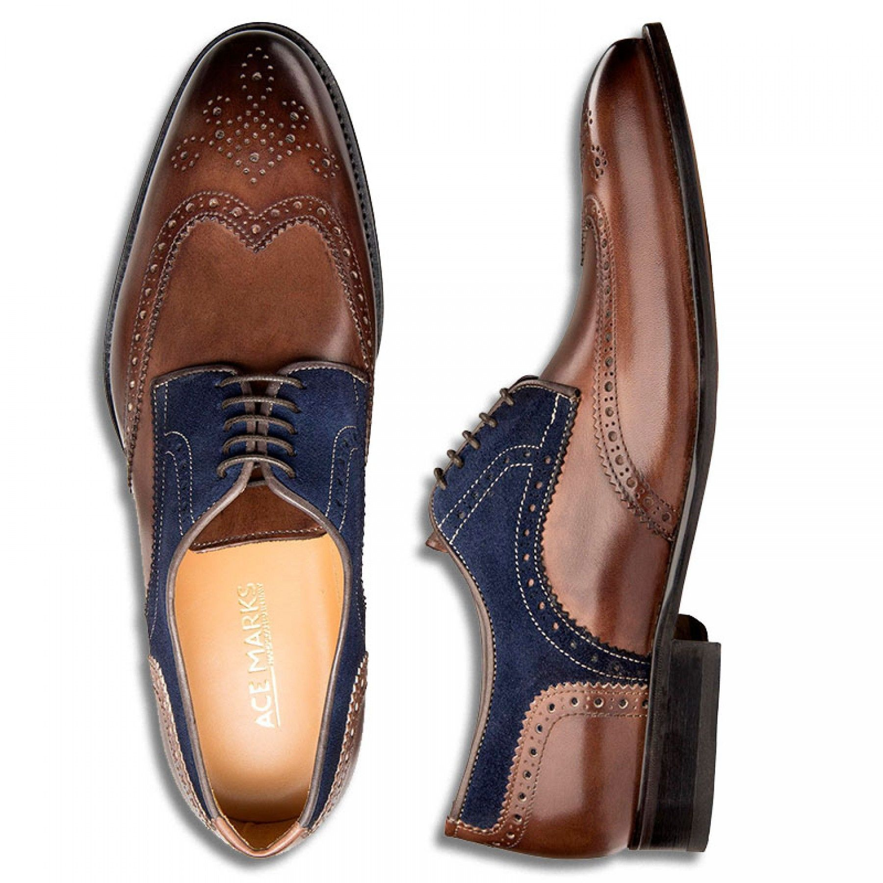 best service fd3b7 35832 Wingtip Brown Antique & Blue Suede | Shoes | Lloyd schuhe ...
