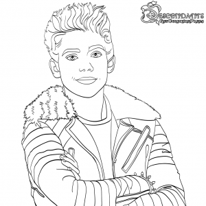photo relating to Descendants 2 Coloring Pages Printable known as Carlos Descendants 2 Coloring Webpage Free of charge Online video Coloring