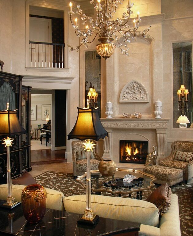 Cozy Rustic Living Room Fireplaces: Cozy Living Rooms With Fireplace #Fireplace #LivingRoom