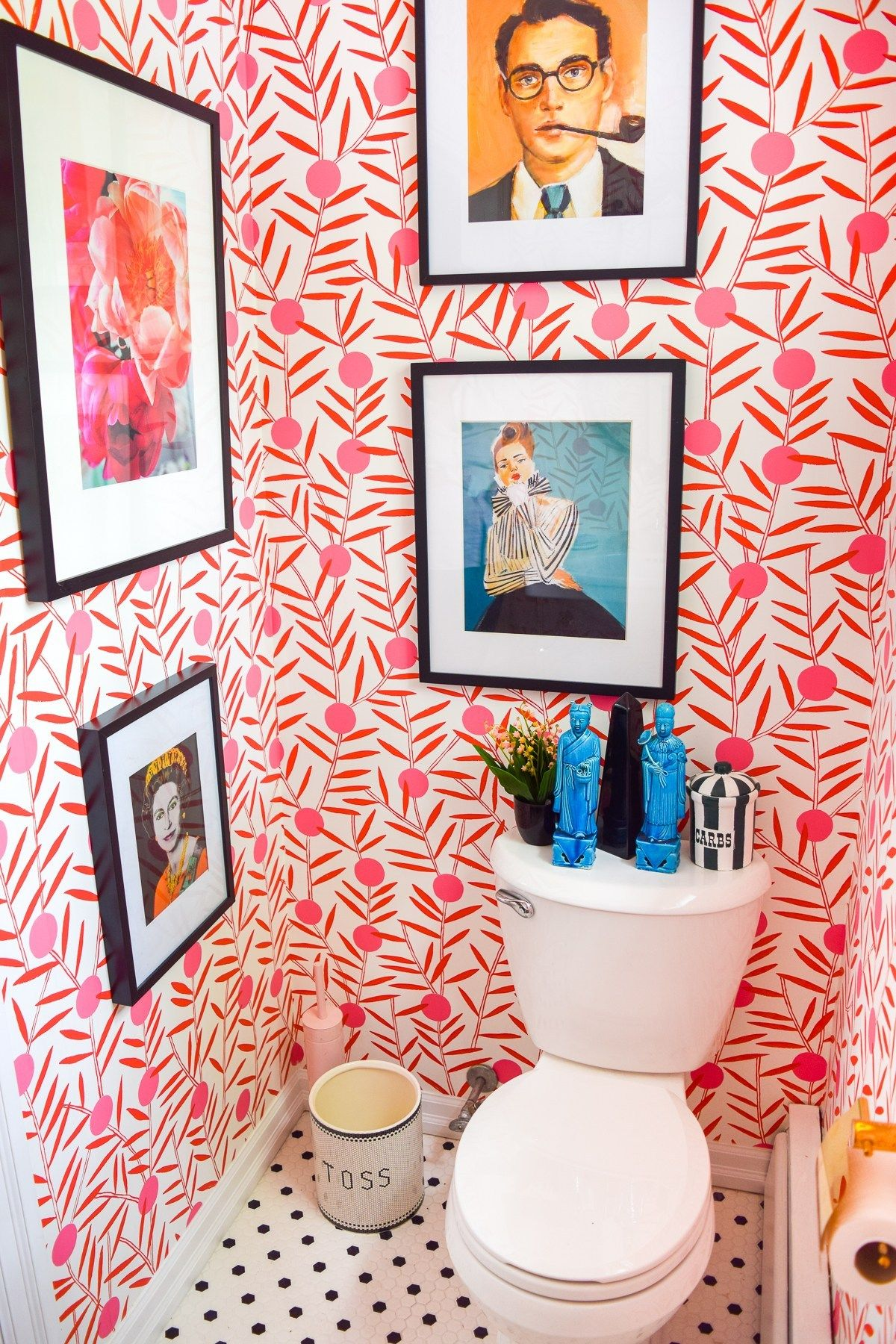 Colorful Powder Room Before & After • PMQ for two