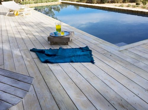 White Washed Decking Deck Paint White Deck Staining Deck