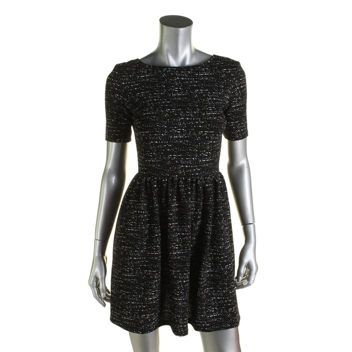 Bar Iii Womens Short Sleeves Mini Cocktail Dress Cocktail Dress