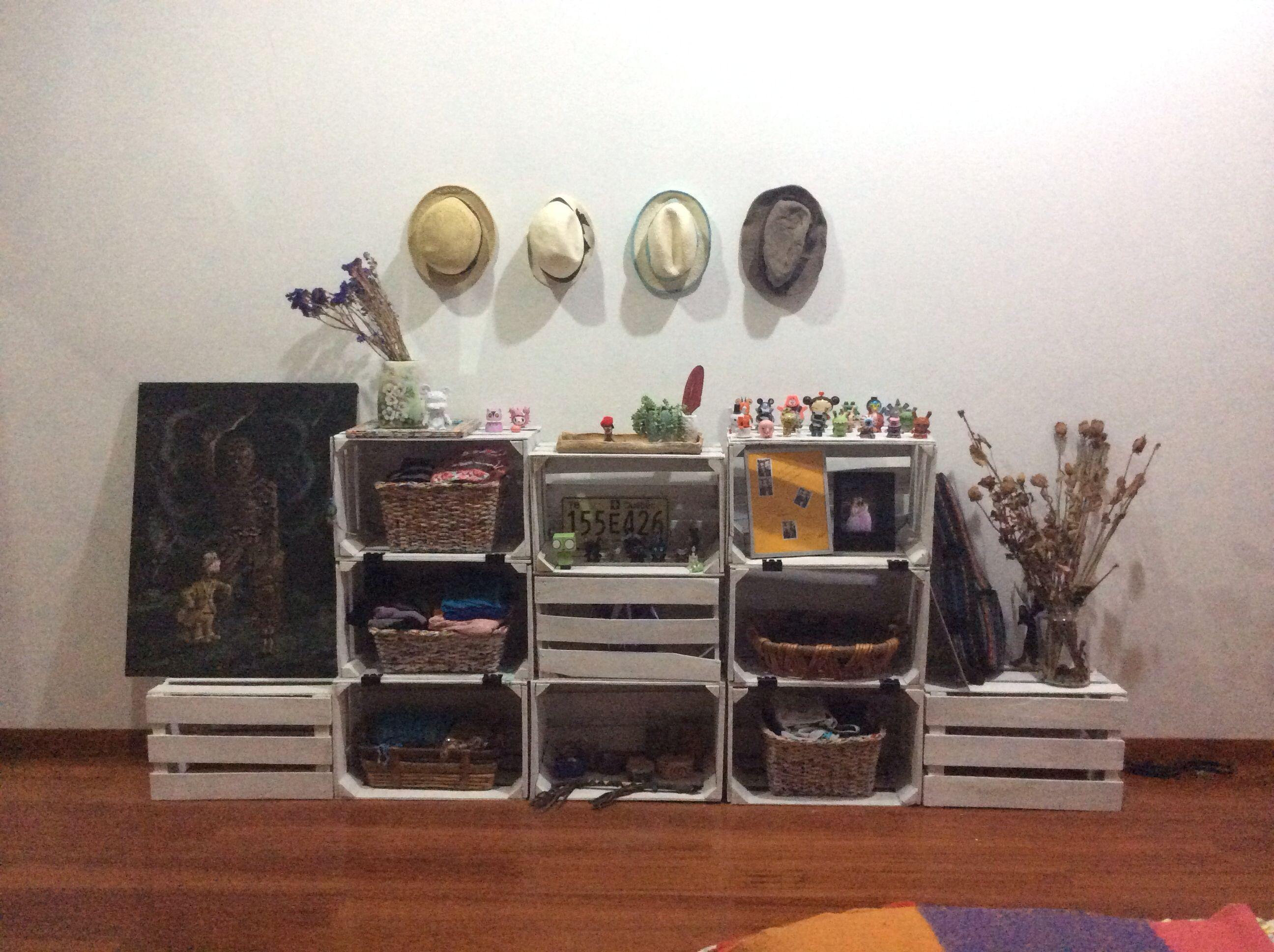 Huacales huacales pinterest muebles reciclados for Muebles reciclados ideas