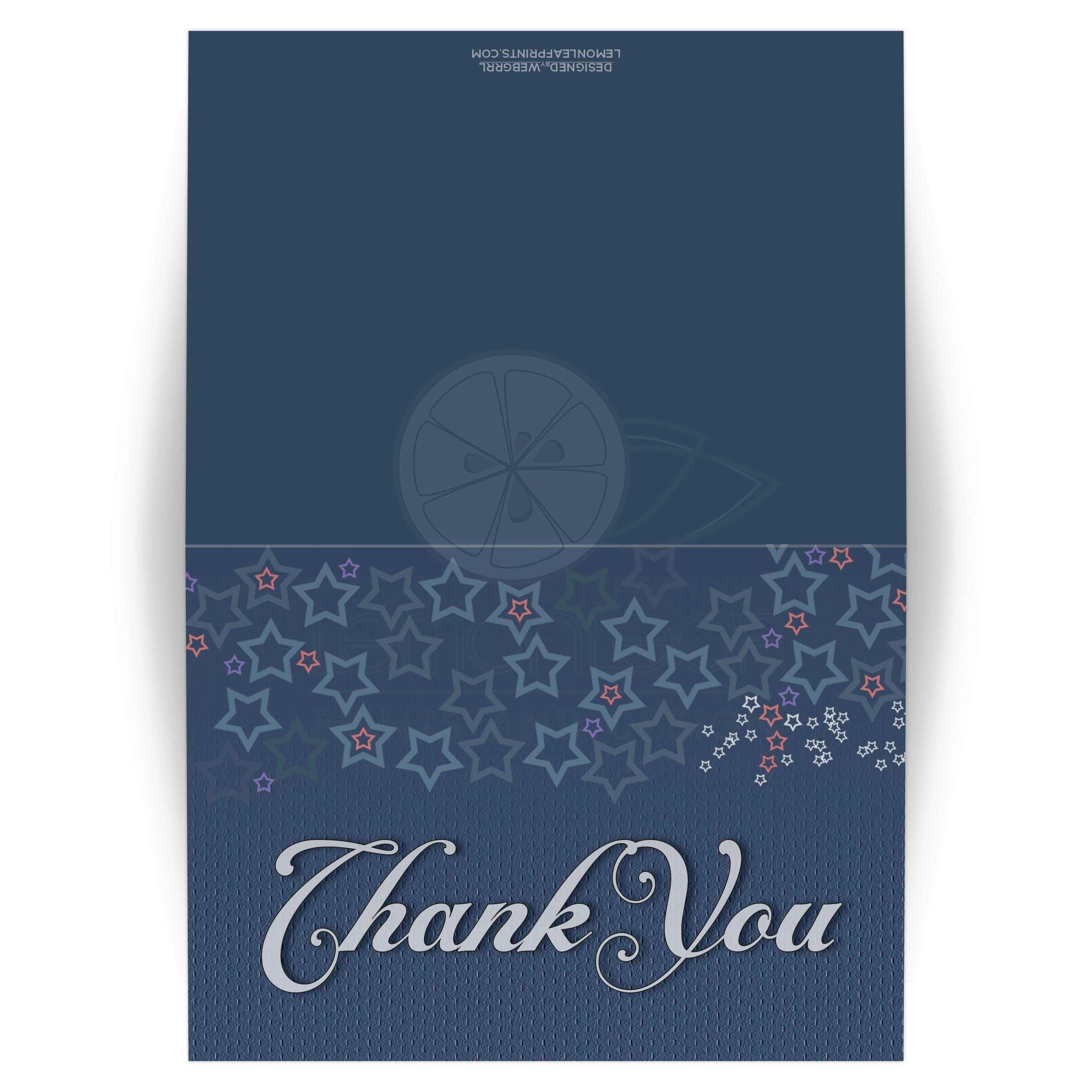Denim blue stars thank you card denim wedding bridal showers and