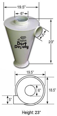 Oneida Super Dust Deputy AXD002030 (Cyclone Only) - Metal