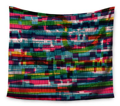 Squares Traffic Pastel by Frederic Levy-Hadida Wall Tapestry