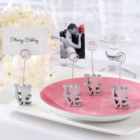 Love Place Card Picture Holder Wedding Favor