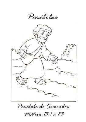 kleurplaten bij parabels desenhos biblicos infantil