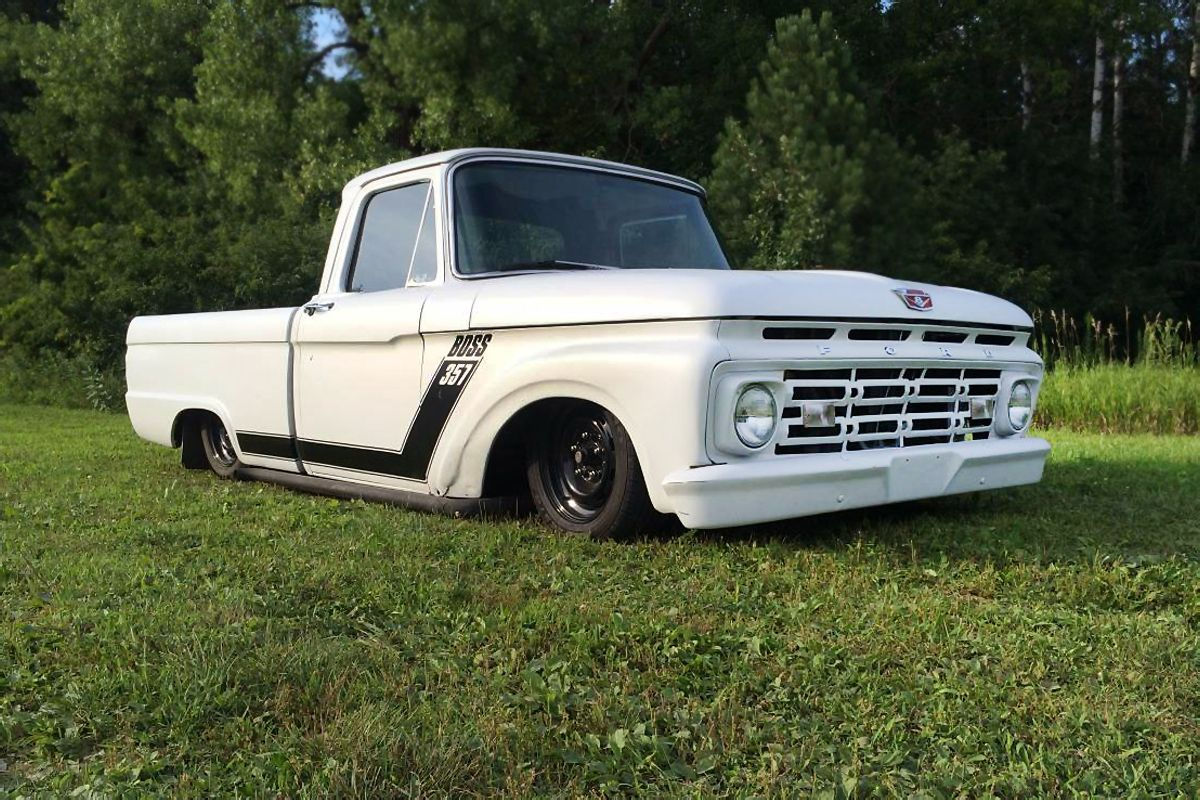 This Bagged And Dragged 1964 Ford F 100 Custom Is One Cool Ride