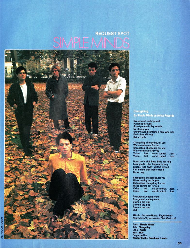 Simple Minds, Changeling, 1981