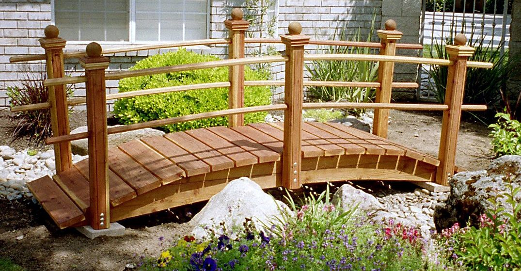 Marvelous Bridges And Archways  Handcrafted Garden Arch Bridge For Home Design Ideas and Pictures