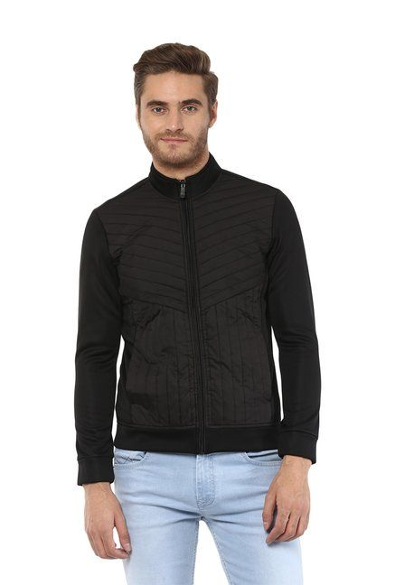 c10a3e348 Mufti Black Full Sleeves Quilted Jacket - | 4099.00 | Men's Fashion ...