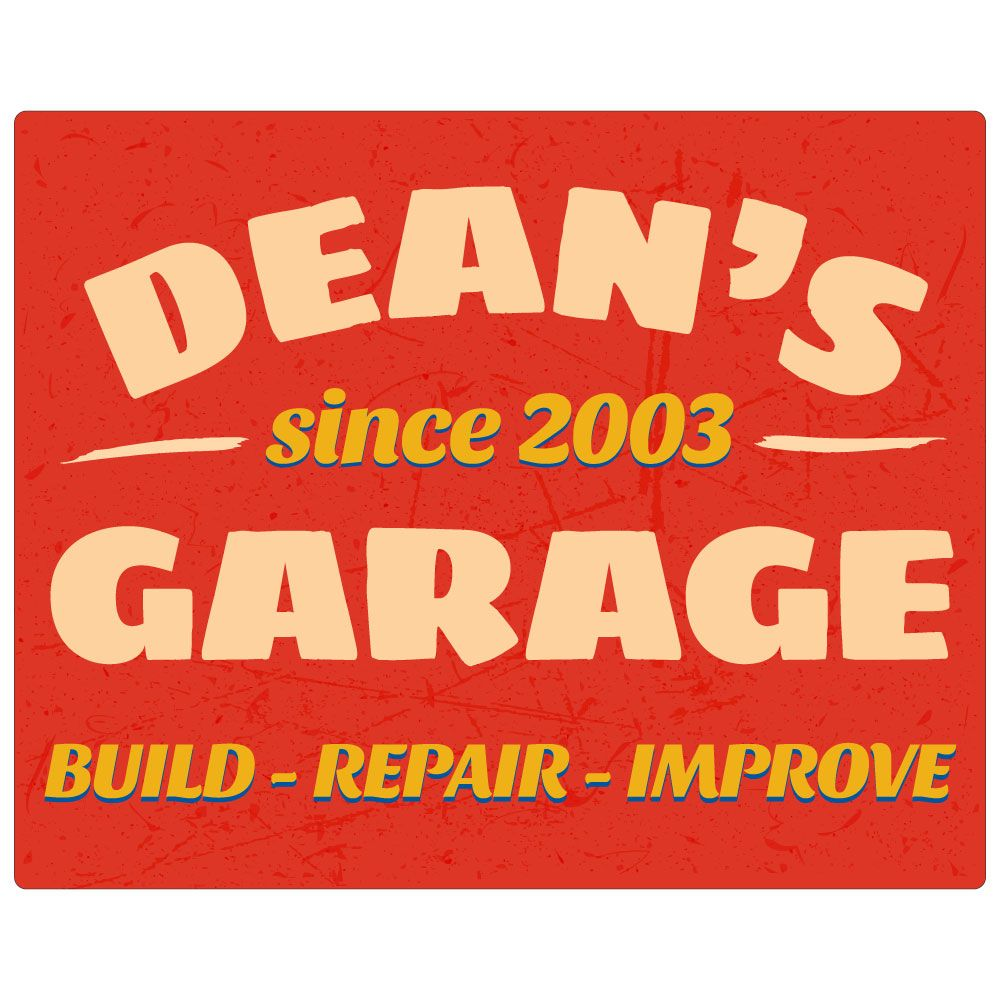 garage mark personalized signs wooden bespoke designs painted brush sign hand