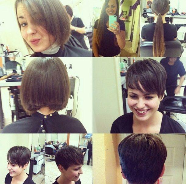 Hubschen Vorher Nachher Frisuren Von Lang Auf Kurz Short Hair Styles Easy Hairstyles Thin Hair Hair Makeover