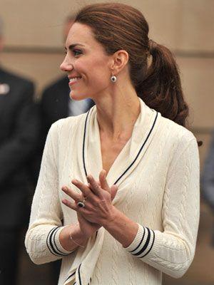 Kate Middleton with a posh ponytail #katemiddleton #royals #hair