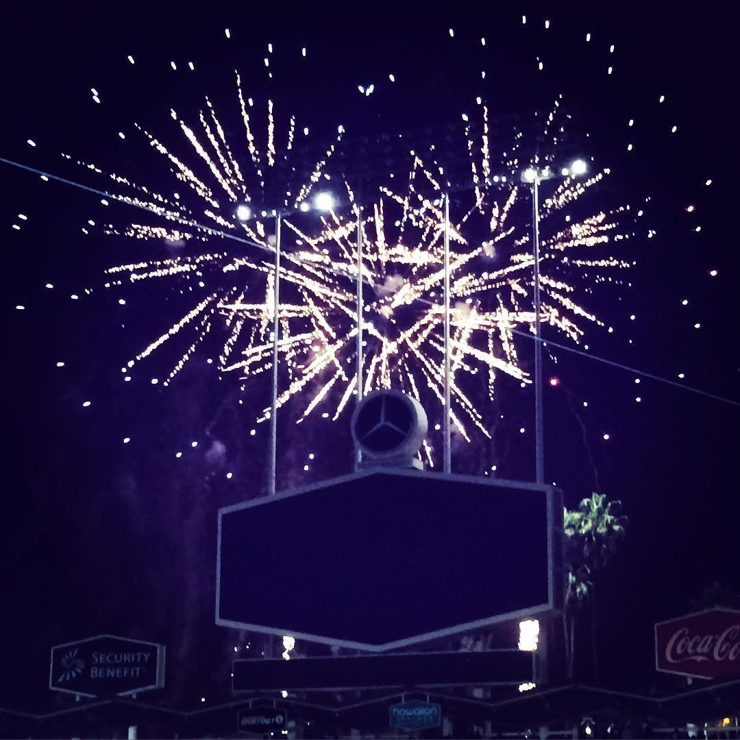 Think Blue Purple Rain At The Dodgers Prince Tribute Fireworks Show Last Night Purplerain Princetribute By Milk Dreams