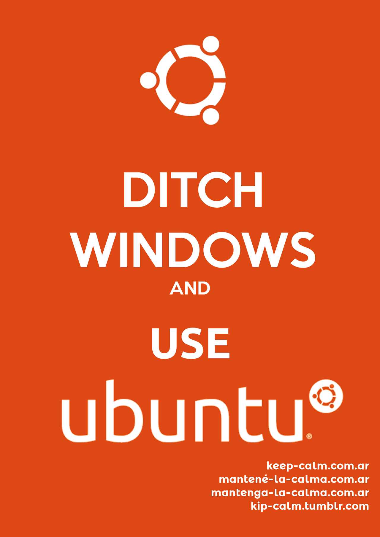 Ditch Windows and use Ubuntu    www.ubuntu.com