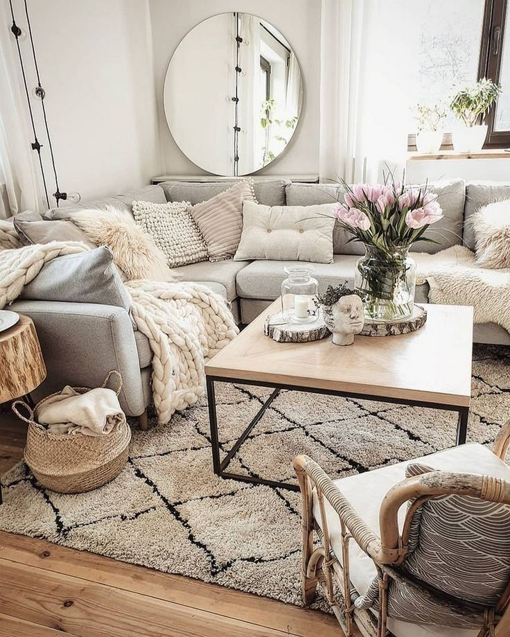 Inspiring Sitting Room Decor Ideas For Inviting And Cozy: 60 Comfy Scandinavian Living Room Decoration Ideas New